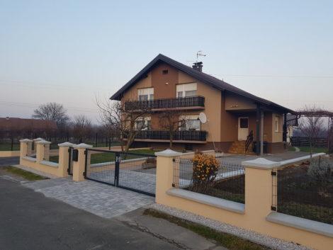Zidana ograja s paneli, Dubrava Križovljanska (HR)