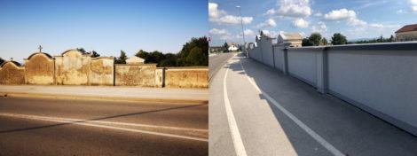 Obnova starega pokopališčnega zidu – Ptuj